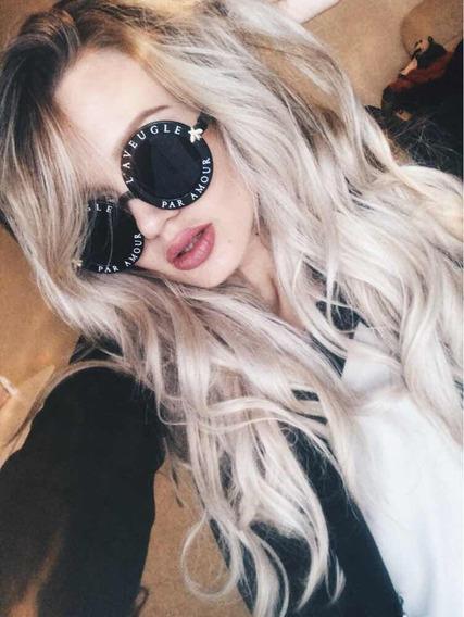 Óculos De Sol Preto Escrito Abelha Blogueira Tumblr