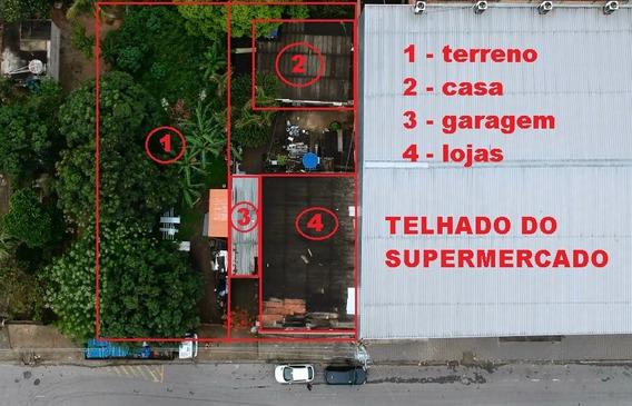 Vendo Imóvel Contendo 2 Lojas Comerciais, 1 Casa E 1 Lote