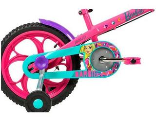 Bicicleta Caloi Barbie Rosa Aro 16