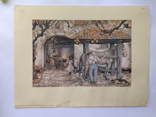 Litografías Vintage De Anton Piek 4 Piezas