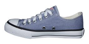 Tênis Converse All Star Cano Baixo Azul Jeans Denim