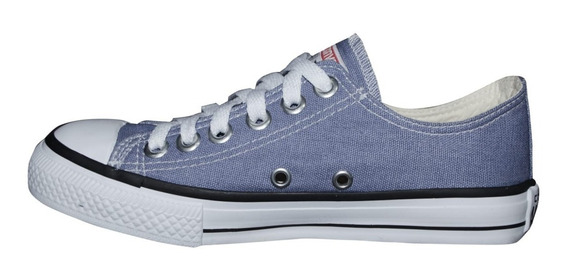 Tênis Converse All Star Cano Baixo Azul Jeans Denim