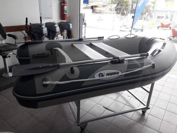 Bote Inflável 2,40 Fundo De Fibra + Motor