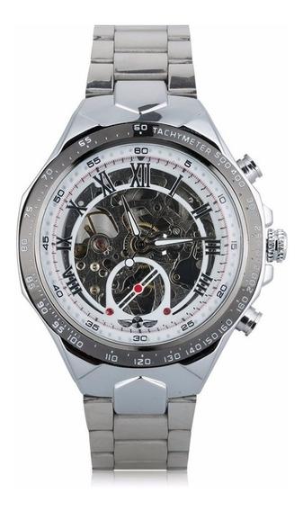 Relógio Masculino Winner Prata Automático - Frete Grátis