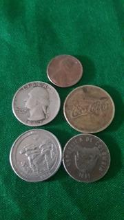 Monedas Antiguas De Distintos Paises