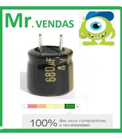 10x Capacitor Eletrolítico 680uf 4v 105º Pronta Entrega