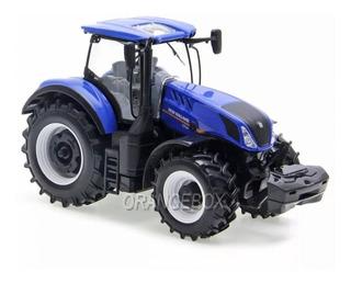 Miniatura Trator Agrícola T7 315 New Holland Licenciado 1:32