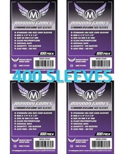Imagem 1 de 4 de 4 Pacotes Sleeves Mayday 100 Standard Usa - 56mmx87mm