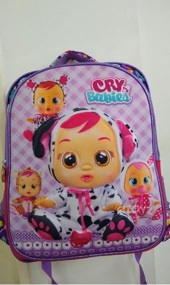 Mochilas Para Niñas 3d Bebé Llorón Escolar