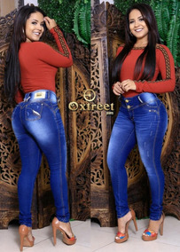 Calça Jeans Feminina Levanta Bumbum Com Bojo Marca Oxtreet