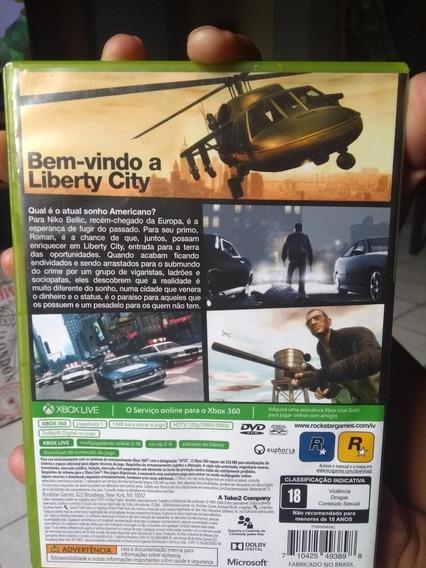 Jogo Xbox 360 Gta Iv Platinum Hits Original