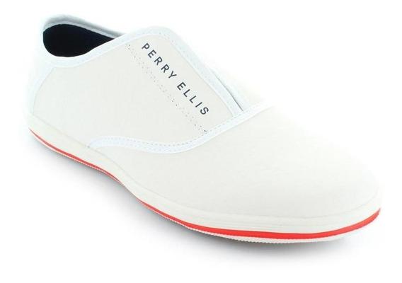Tenis Para Hombre Perry Ellis Pe-1442-032974 Color Blanco