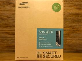 Fechadura Digital Samsung Shs-3320 Abertura C/ Chave Comum