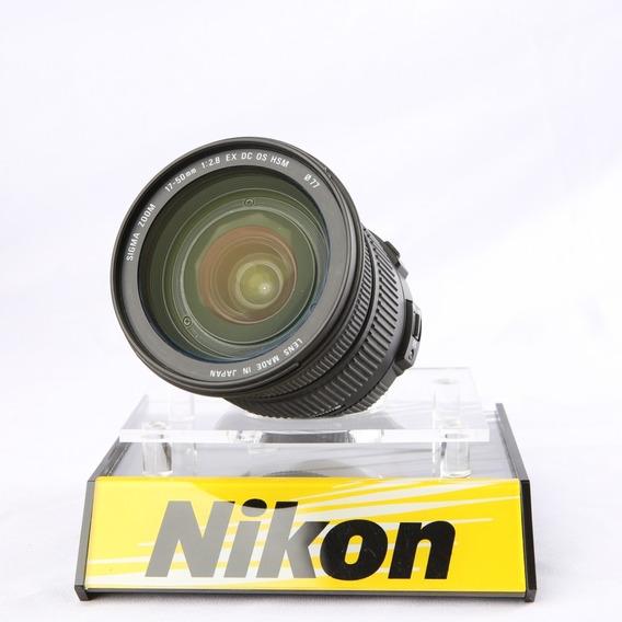 Lente Sigma 17-50mm F/2.8 Ex Dc Os Hsm P/ Nikon