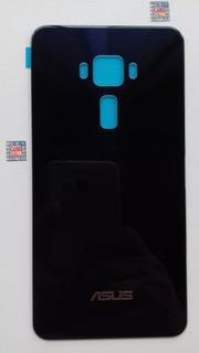 Tampa Traseira Vidro Asus Zenfone 3 - Ze552kl 5.2 - Azul Pet