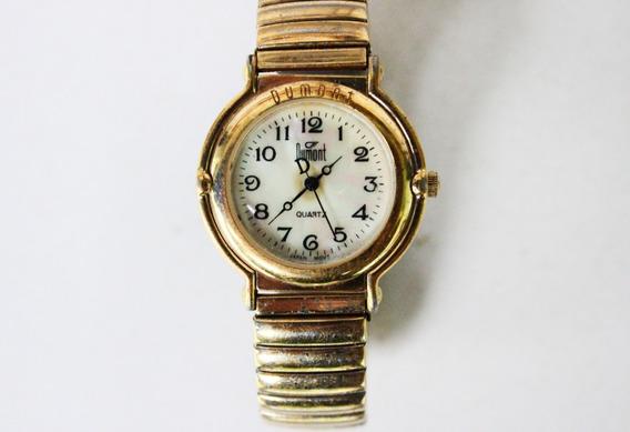 Antigo Relógio De Pulso Dumont Quartz - No Estado