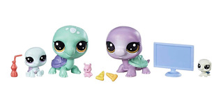 Littlest Pet Shop Pack Familiar Figuras Con Accesorios