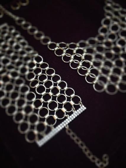 Maravilhiso Conjunto Com Bracele E Colar - Brinde Brinco