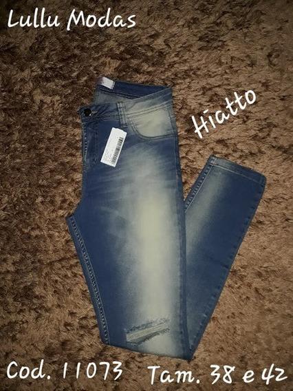 Calça Jeans Skinny Feminina Rasgada No Joelho Cod. 11073