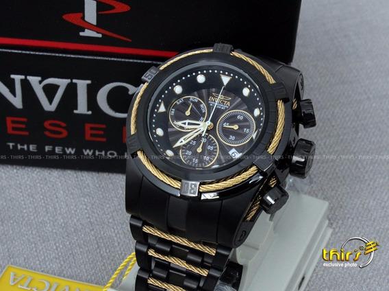 Invicta Bolt 23917 54mm Black Gold Original Lancament