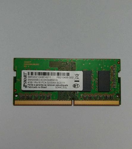 Imagem 1 de 2 de Memoria Ram 4 Gb Ddr4 2666 Mhz Smart - Notebook