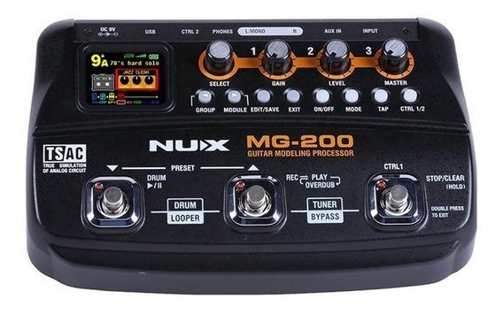 Pedaleira Nux P/ Guitarra Mg-200 - Pd1028