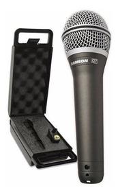 Microfone Samson Dinâmico Super Cardióide Profissional Q7