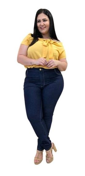 Calça Jeans Plus Size Roupas Feminina Tamanhos Grandes Extra