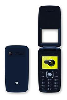 Celular Flip Dl Yc335 2chip Câmera Fm Bateria Anatel + Nfe