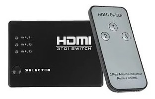 Switch Hdmi 3 Entrada 1 Salida 1080p Jwk