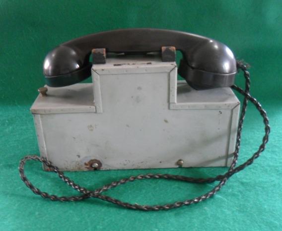 Telefone Antigo De Campanha Ferro - O P O R T U N I D A D E!
