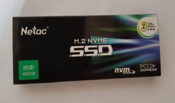 Ssd Netac 480 Gb M2 Nvme Pci3 , Pró Gamer ,garantia 3 Anos