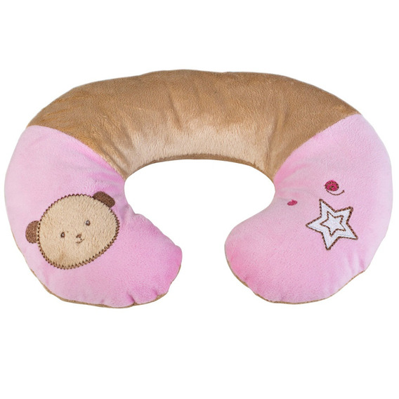 Protetor De Pescoço Pequeno - Urso Rosa - Kababy