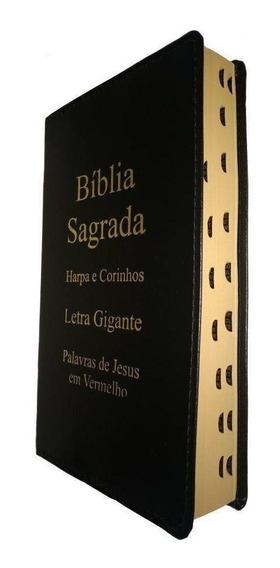Kit 4 Biblia Letra Gigante Com Harpa Atacado Revenda