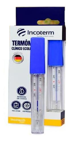 Imagem 1 de 1 de Termômetro Clinico De Vidro Sem Mercurio Ecologico Incoterm