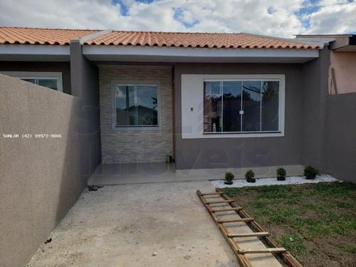 Casa Para Venda Em Ponta Grossa, Castanheira, 2 Dormitórios, 1 Banheiro, 1 Vaga - _1-1835078