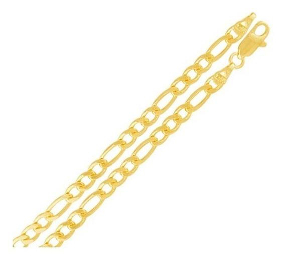 Cordão Folheado A Ouro 18k 60cm 3x1 4mm Garantia