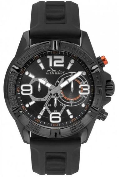 Relógio Condor Masculino Borracha Preto Covd54avul/8p