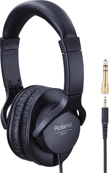 Fone De Ouvido Roland Rh5 Preto Nf E Garantia 12x Frete Grat