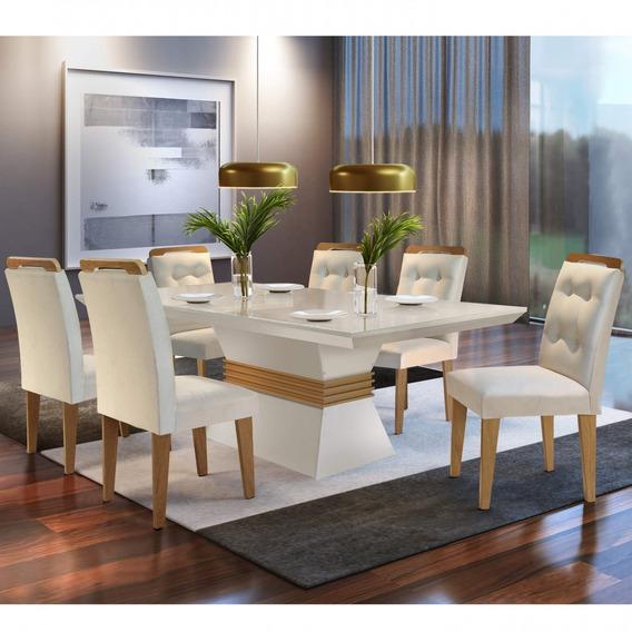 Conjunto Mesa De Jantar 6 Cadeiras Dream Espresso Bcwt