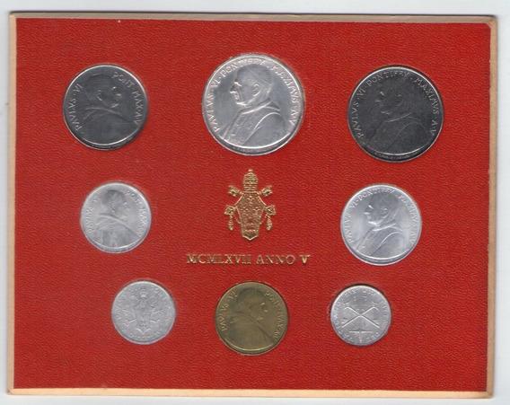 Vaticano Mint Set Monedas Año 1967 Papa Pablo Vi