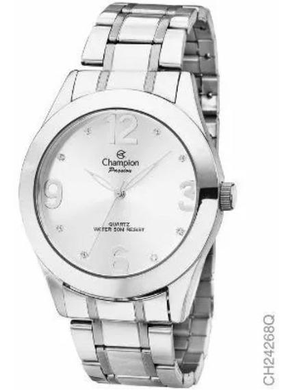 Relógio Feminino Original Champion Prata Ch24268q