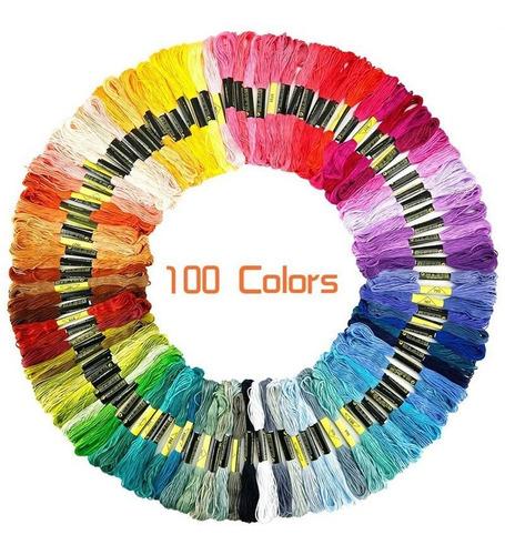 Hilo Para Bordar, 100 Madejas Colores Surtidos