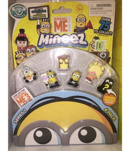 Mineez Minions Pack X6 Original Mejor Precio!!