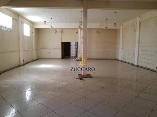 Salão Para Alugar, 300 M² Por R$ 4.000,00/mês - Jardim Bom Clima - Guarulhos/sp - Sl0806