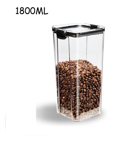 Imagen 1 de 10 de Tupper Organizador De Alimentos Cocina Almacenamiento 1800ml