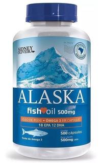 Ômega 3 Alaska Óleo Peixe 500mg 500 Capsulas Sidney Oliveira