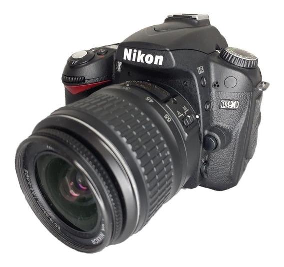 Câmera Nikon D90 Seminova Impecável + Lente 18-55mm