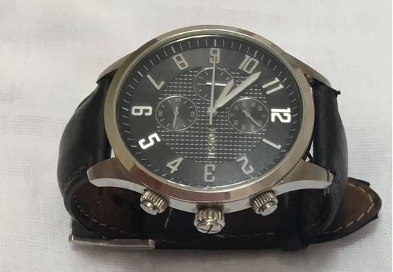 Relógio Fóssil Fs 4493 Pulseira Couro Preta - Original