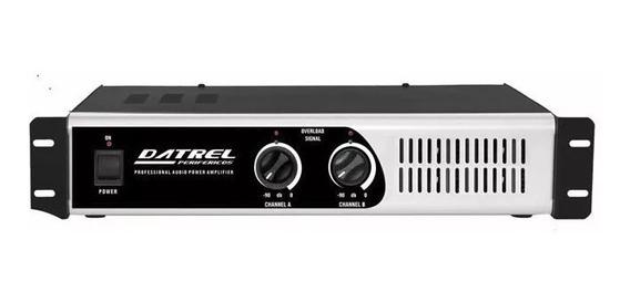 Amplificador De Potencia Profissional Datrel 300w Pa 1800